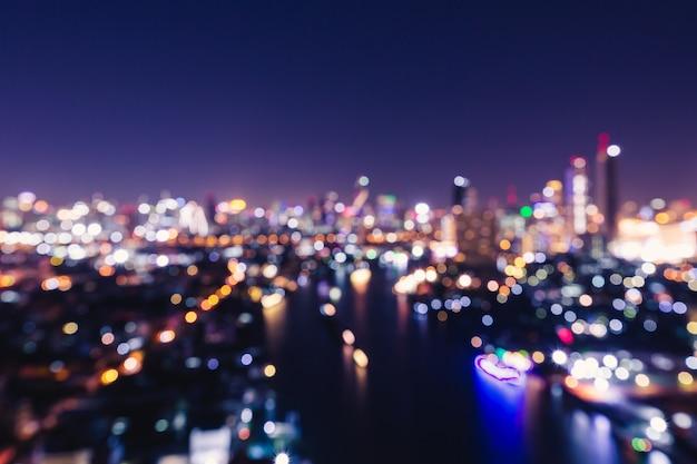 Bokeh luz da cidade