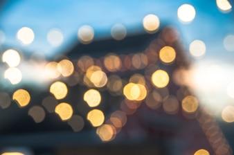Bokeh luz da noite da cidade.