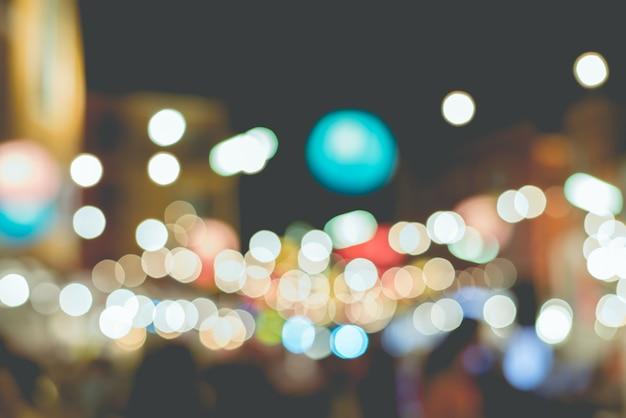 Bokeh luz do mercado, pessoas, conhecer, reunião, vintage, escuro