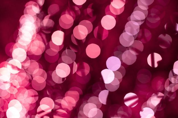 Bokeh rosa turva luzes de fundo