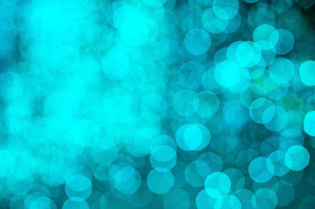 Bokeh turquesas luzes desfocadas fundo