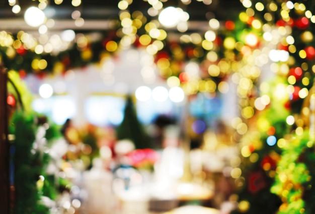 Bokeh turva abstrata fundo de decoração de natal