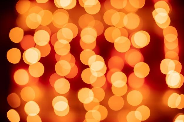 Bokeh vermelho turva luzes de fundo
