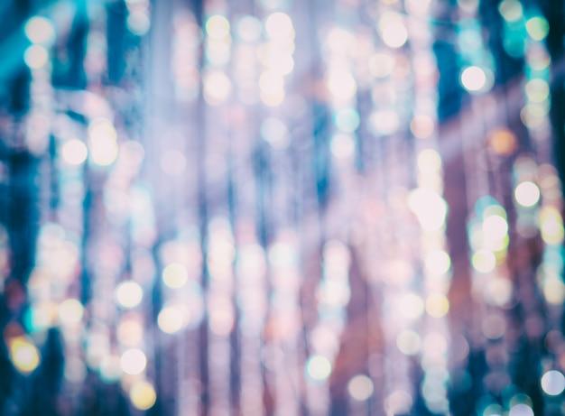 Bokeh vintage durante o fundo de vazamento de luz