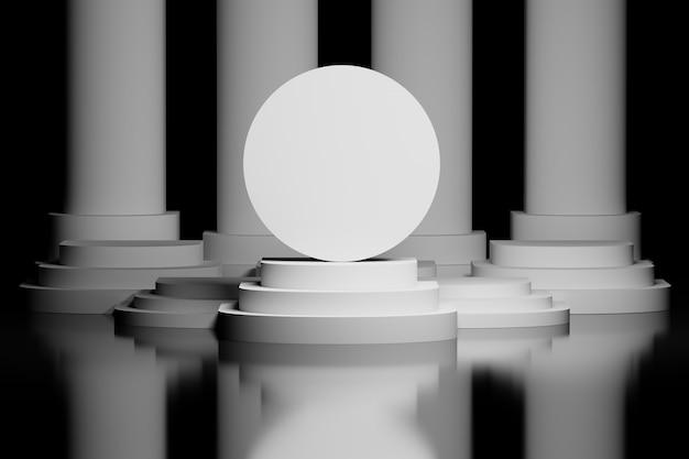 Bola circular em um pedestal