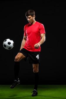 Bola de chute de jogador de futebol