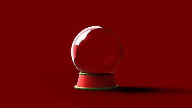 Bola de cristal vazia no suporte