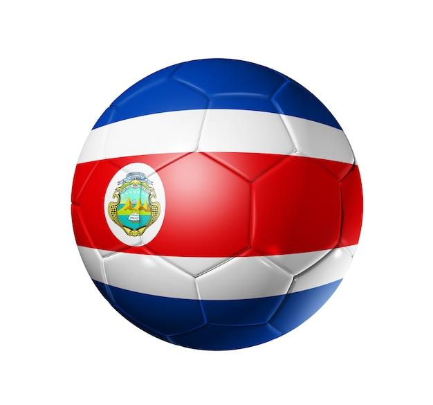 Bola de futebol com bandeira da costa rica