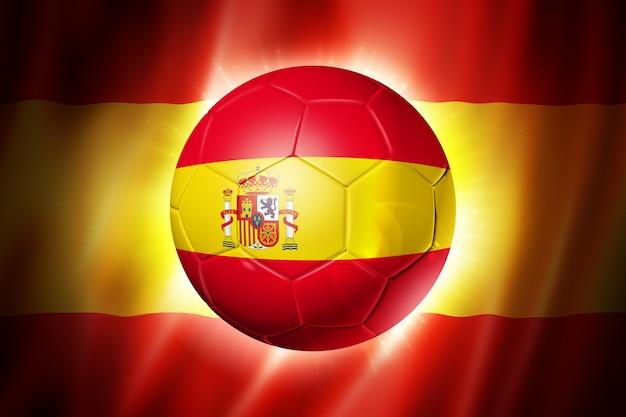 Bola de futebol com bandeira da espanha