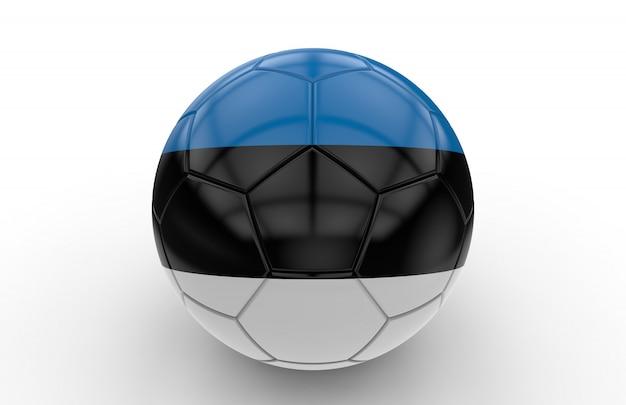 Bola de futebol com bandeira da estónia