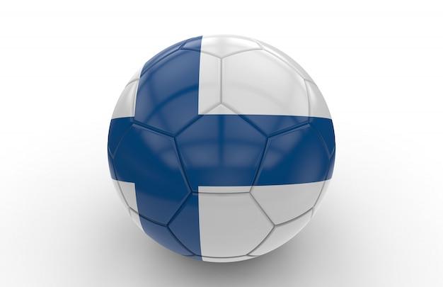 Bola de futebol com bandeira da finlândia