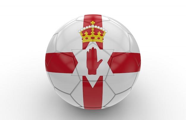 Bola de futebol com bandeira da irlanda do norte