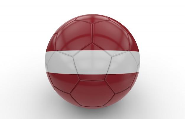 Bola de futebol com bandeira da letónia
