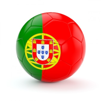 Bola de futebol com bandeira de portugal