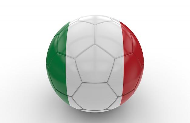 Bola de futebol com bandeira italiana