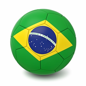 Bola de futebol com bandeiras de países do mundo isoladas
