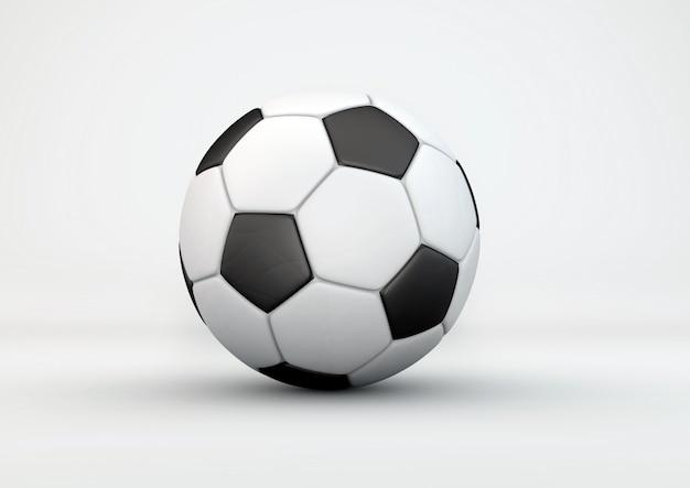 Bola de futebol com sombras na cinza