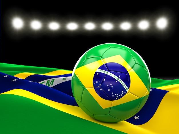 Bola de futebol do brasil