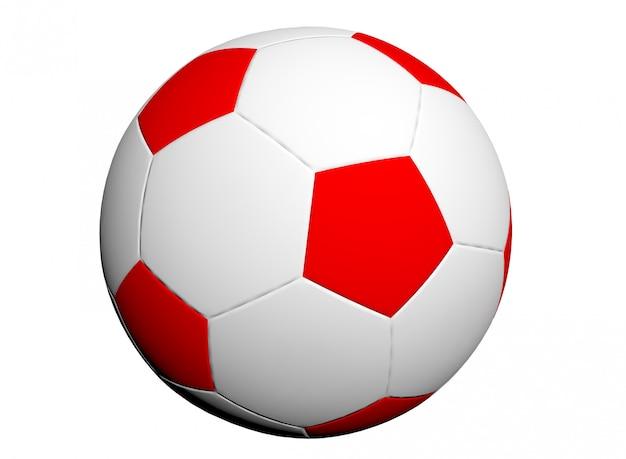 Bola de futebol isolada em fundo branco