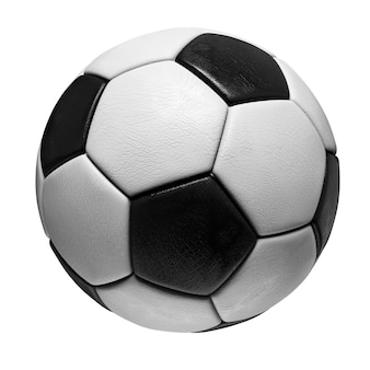 Bola de futebol isolada no fundo branco