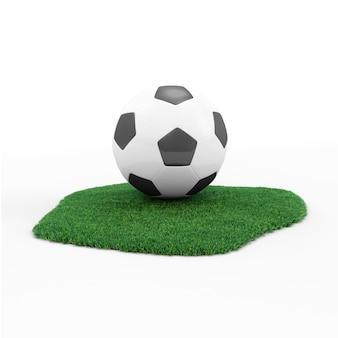 Bola de futebol na grama verde