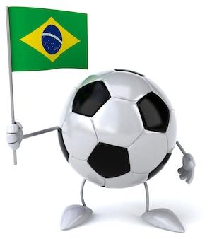 Bola de futebol - personagem 3d