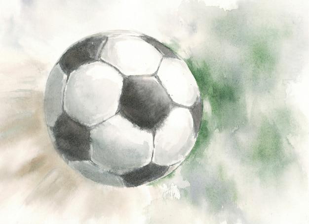 Bola de futebol voando no ar