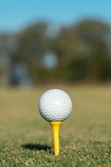 Bola de golfe em close-up