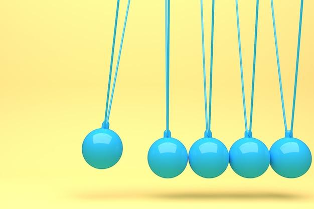 Bola de newton cheia de cor, bola de equilíbrio