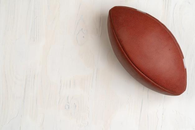 Bola de rugby americana, vista de cima