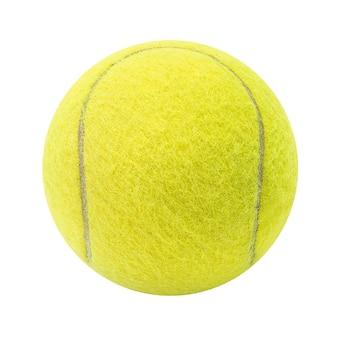 Bola de tênis isolada no fundo branco com traçado de recorte
