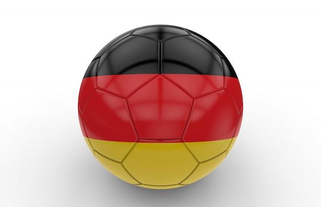 Bola futebol, com, bandeira alemã