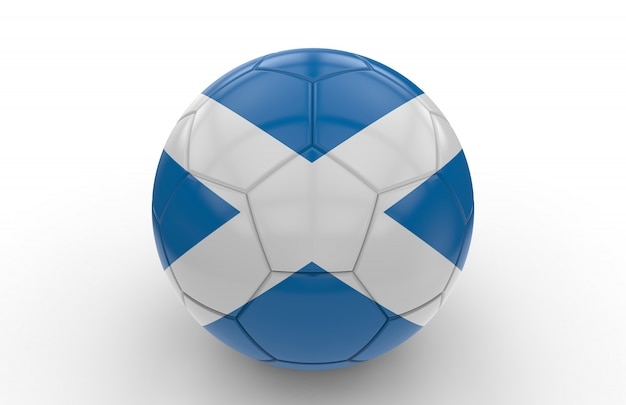 Bola futebol, com, bandeira escócia
