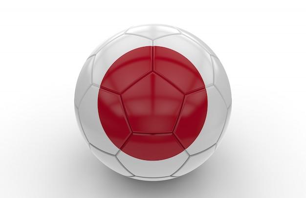 Bola futebol, com, bandeira japonesa
