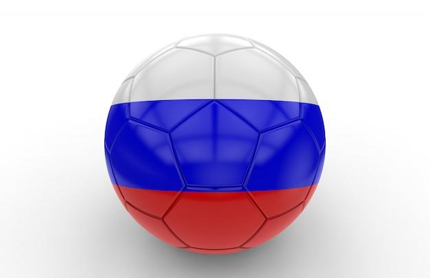 Bola futebol, com, bandeira russa