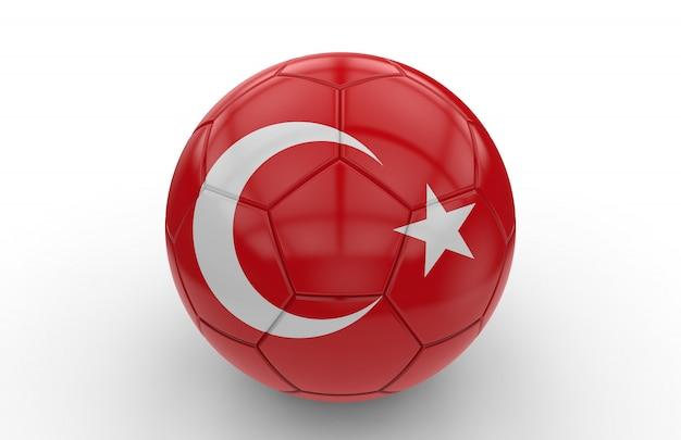 Bola futebol, com, bandeira turca