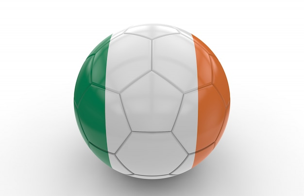 Bola futebol, com, irlandês, bandeira