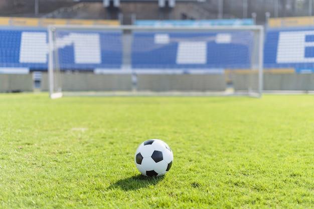 Bola futebol, em, estádio