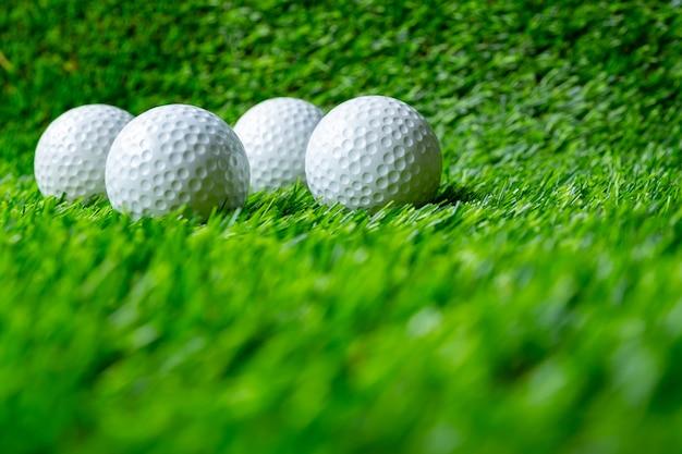 Bola golfe, ligado, capim
