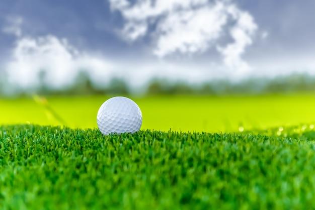 Bola golfe, ligado, nuvem, céu, fundo
