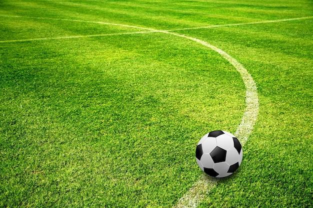 Bola, ligado, campo futebol