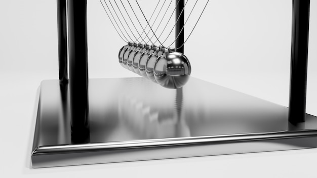 Bola newton, equilíbrio, bola, desenho, movimento momentum balanço, 3d, fazendo