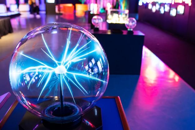 Bola plasma, em, museu ciência