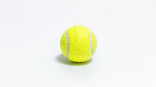 Bola tênis, isolado, branco, fundo