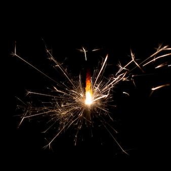 Bolacha de fogo em preto