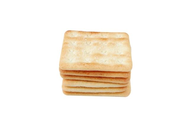 Bolachas crocantes com açúcar isolado no fundo branco