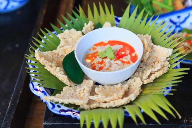 Bolachas de arroz crocante