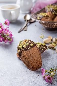 Bolachas de chocolate caseiras madeleine