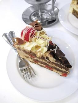 Bolachas e cheesecake creme, bolo
