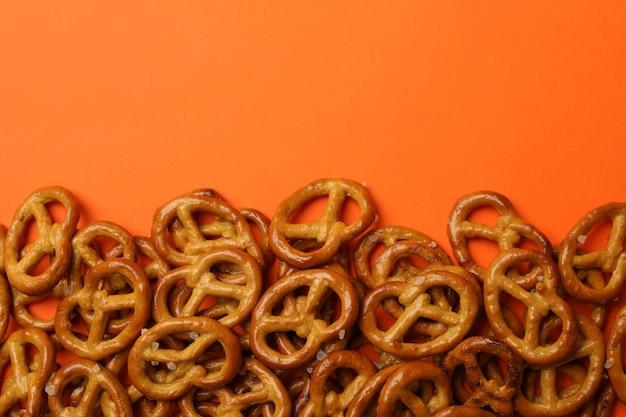 Bolachas saborosas de pretzels